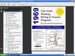 com colorized mustang wiring diagrams ebook screenshot of 1969 colorized mustang wire and vacuum diagrams screenshot of 1969 colorized wiring