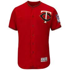 Men's Minnesota Twins Majestic Fashion Scarlet Flex Base Authentic  Collection Team Jersey