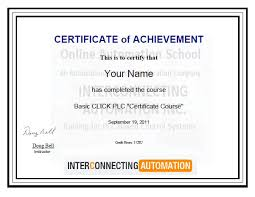 plc education basic click plc certificate course