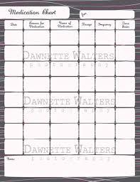 Printable Medication Chart Download Family Organizer