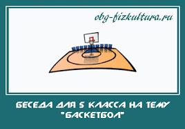 Беседа для класса на тему Баскетбол  Беседа для 5 класса на тему Баскетбол