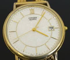 men s solid 9carat yellow gold citizen quartz watch w gate style mens solid 9carat yellow gold citizen quartz watch