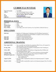 Sample Employment Resume 20 Employment Curriculum Vitae Sample Leterformat