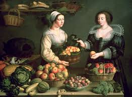 the fruit and vegetable er oil on panel