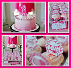 pink first birthday party