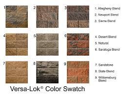 Versa Lok Block Color Chart Retaining Wall Block Morelli Bros Block Brick Co Inc