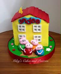 Cute Peppa Pig Themed Cake By Rema Reyes Amazing Cake Ideas