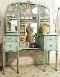 vintage vanity mirror with lights bathroom wonderful furniture blue antique dresser table with folding mirror and vintage vanity mirror