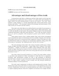 advantages and disadvantages of trade jpg cb  english homework richard andratildecopyss robalino quitocareer electronics and telecommunications advantages and disadv