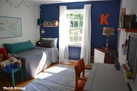 boys blue bedroom. Tween Boys Blue Bedroom Makeover - This Cozy Using Behr Mosaic Blue, IKEA