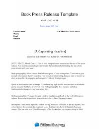 Business Press Release Template How To Write A Book Press Release In 9 Steps Free Template