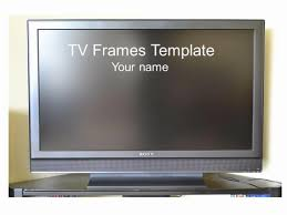 tv powerpoint templates wide screen tv frame template