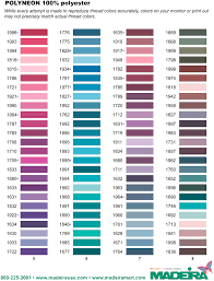 Madeira Thread Color Chart D2 Productions