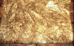 faux wolf skin rug fake fur pelt gray area pieced collection home bar ideas with black grey wolf rug loading zoom skin