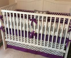 purple crib bedding sets style