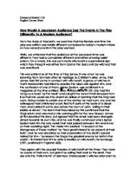 macbeth essay how would a jacobean audience see events in the page 1 zoom in