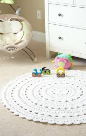 round white rug for nursery
