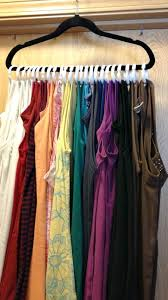 clever tank top hanger use shower curtain rings to hang up your tank tops and free up space in your dresser drawers