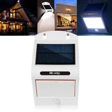 solar power 20 led waterproof pir motion sensor wall light outdoor garden lamp