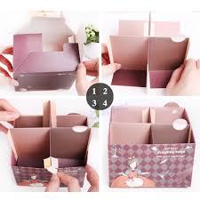 y122 1pc diy paper board storage box desktop organizer makeup cosmetic bag case conner