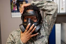 Preparing for gas mask fit test