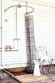 installing outdoor shower amusing shower curtain installation simple outdoor shower with curved shower curtain rod shower installing outdoor shower