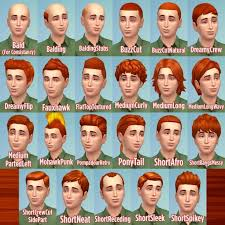 ginger all male hairs by caitie at mod the sims