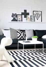 black and white living room idea 45