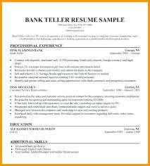 Resume For Teller Position Teller Resume Objective Joefitnessstore Com