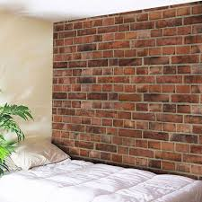 trendy microfiber wall hanging brick wall tapestry