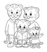 Small Picture Print Color Daniel Tigers Neighborhood PBS KIDS