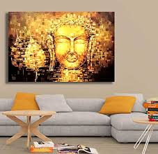paper plane design lord buddha canvas paintings the golden buddha tibetan art large size unframed rolled canvas art print for home living room office  on large tibetan wall art with paper plane design lord buddha canvas paintings the golden buddha
