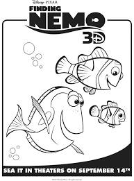Finding Nemo Characters Coloring Pages Artigianelliinfo