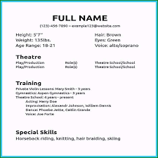 How To Make An Acting Resume For Beginners How To Make An Acting Resume Customized Actor Resume Sample