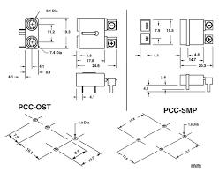 circuit board mount thermocouple connectors pcc ost pcc smp pcb mount thermocouple connector dimensions