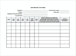 Monthly Timesheet Template   Cycling Studio