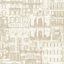 architecture blueprints wallpaper. Beacon House Facade Beige Vintage Blueprint Wallpaper Sample Architecture Blueprints Wallpaper