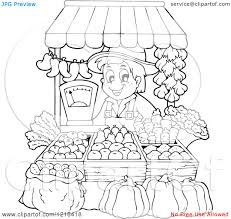 Vegetable Market Coloring Pages