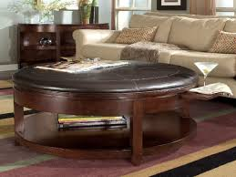 marvelous round leather coffee table coffee table round leather ottoman coffee table with storage