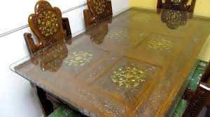 indian carved dining table. dinning table teak wood hand carved brass inlay made in india.mov - youtube indian dining t