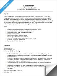 hair stylist resume sample hair stylist sample resume