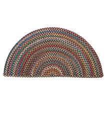 blue ridge half round wool braided rug 2 x 4 black multi