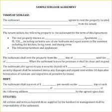 L Sublet Lease Agreement Template Sublease Contract Ideas California ...