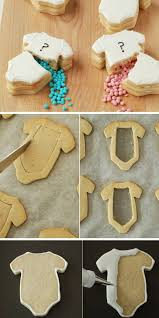 baby shower gender reveal cookies diy baby shower ideas for boys for tutorial