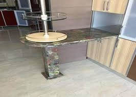 residencial green granite countertops kitchen sink countertop top edges polished