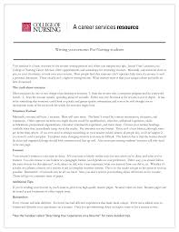 School Nurse Objectives And Goals For A Resume Resume For Your