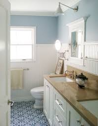 Small Blue Bathrooms Bathroom Color Bathroom Ceiling Paint With Beautiful Wainscoting