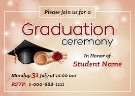Graduation Templates Word Graduation Party Invitation Cards For Ms Word Word Excel