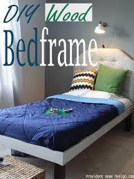 diy wood bed