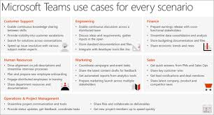 Scenario Interview Define Usage Scenarios For Microsoft Teams Microsoft Docs